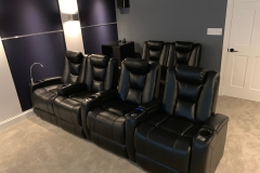 Modern theater with Fusion Collection Escape-1019 in BLACK top grain leather