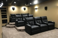 Home theater with Fusion Lagoon-1011 recliners