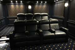 Home theater w/Fusion Collection Jive-1013 home theater motorized recliners