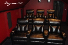 Burgunady Theater with Lagoon-1011 home theater recliners
