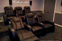 Media room with Fusion Collection Tribute-1015 recliners