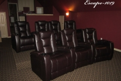 Fusion Collection Escape-1019 recliners in espresso brown top grain leather