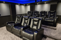 Elegant Home Theater w/ Fusion Collection Escape-1019 motorized recliners