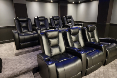 Elegant Theater w/ Fusion Collection Escape-1019 motorized recliners