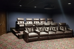 Large fully acoustically treated Home Theater with Fusion Collection Lagoon-1011 recliners