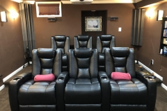 Small Home Theater with Fusion Collection Escape-1019 recliners
