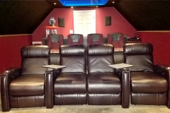 Attic Home Theater with Jive-1013 recliners