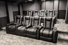 Fusion Collection Landmark-1021 recliners in BLACK top grain leather