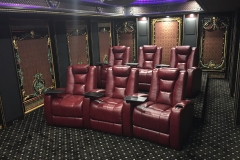 Beautiful Home Theater with custom Fusion Collection Seating