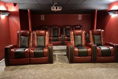 Red theater with Fusion Collection Landmark-1021 recliners