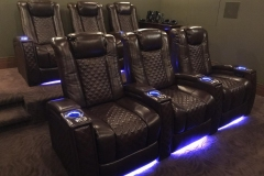 Modern Home Theater w/ Fusion Collection Landmark-1021 motorized recliners