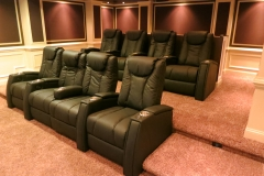 Classic theater w/Fusion Collection Tribute-1015 motorized recliners