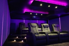 Dedicated Home Theater with Fusion Collection Tribute-1015 recliners